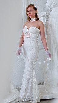 White Dress, Fashion, Style, Elegantly, White, Girl