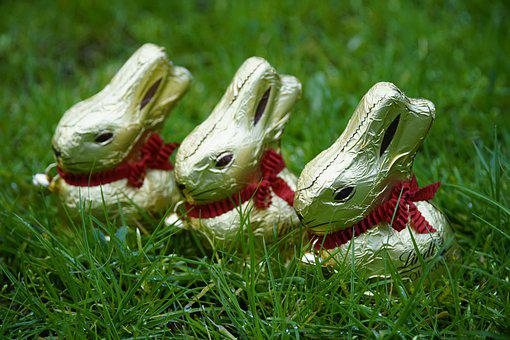 Easter, Bunny, Chocolate, Spring, Decoration, Grass