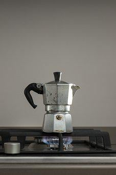 Coffee Percolator, Stove, Flame, Coffee, Coffeepot