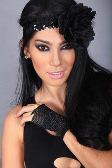 Fashion, Model, Woman, Makeup, Face, Beauty, Headdress