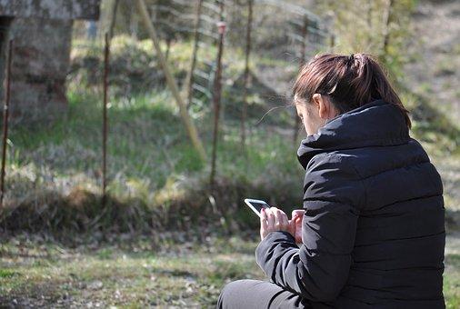 Girl, Girl On Phone, User, People, Young, Phone