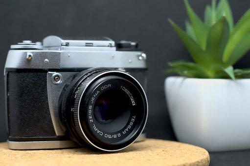 Camera, Lens, Analog, Classic, Retro, Old, Antique