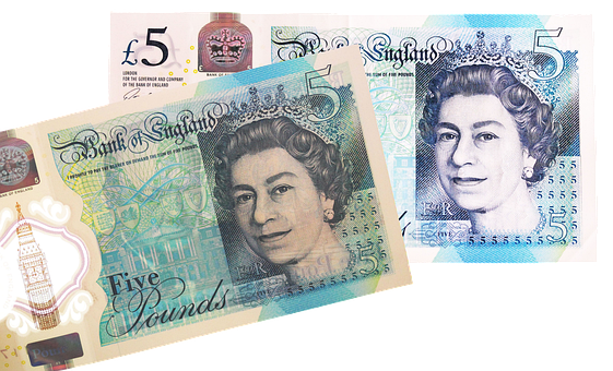 Money, Pounds, Currency, Five Pounds, Cash, Banknote