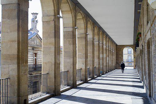 Arches, Balcony, Building, Pillars, Architecture, City