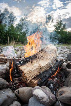 Campfire, Fireplace, Flame, Fire, Wood, Bank, Burn