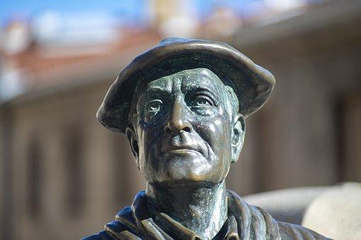 Statue, Monument, Park, Celedon, Sculpture, Man