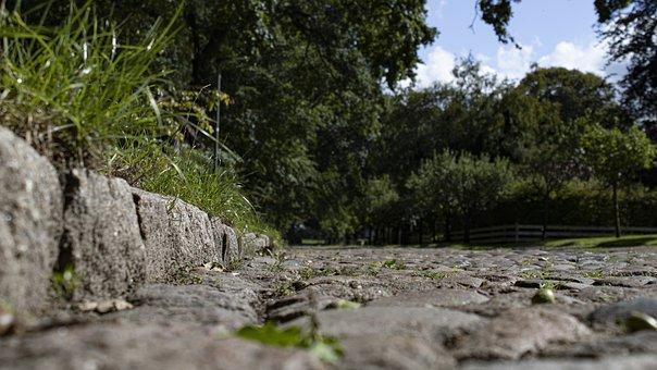 Cobblestone, Road, Countryside, Walkway, Path, Trees