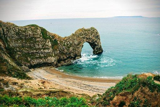 Beach, Sea, Ocean, Rocks, Arch, Durdle Door