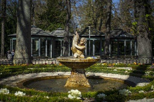 Fountain, Statue, Park, Garden, Sculpture