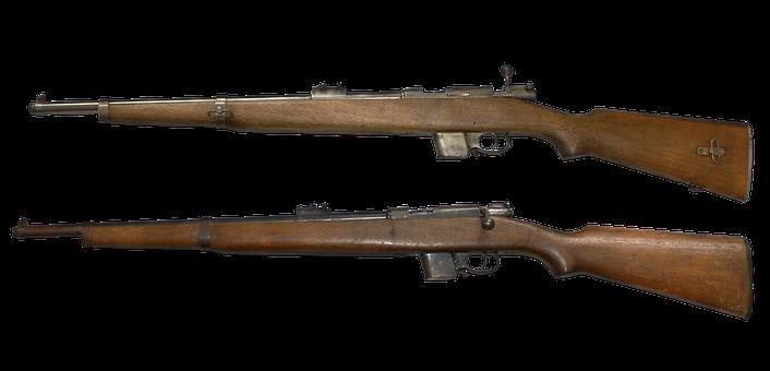 Gun, Rifle, Weapon, Ww2, Old, Vintage, Cut Out