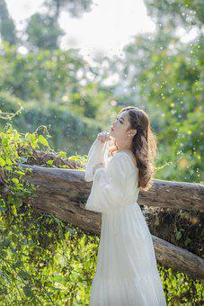 Woman, White Dress, Magical, Dress, Girl, Lady, Young