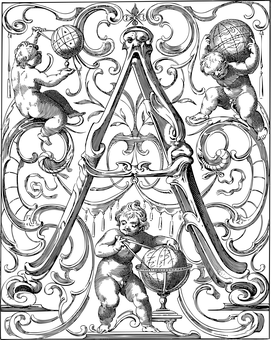 Letter, Ornamental, Alphabet, Flourish, A, Letter A