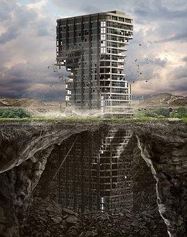 Building, Ruin, Photo Art, Fantasy, Sunken, Abandoned