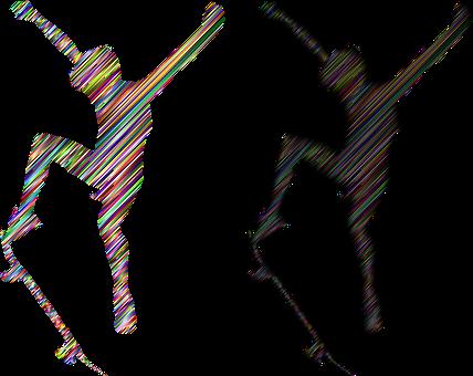 Boy, Skateboard, Silhouette, Abstract, Line Art