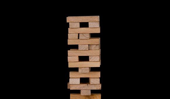 Jenga, Wooden Blocks, Game, Balance, Wood, Strategy