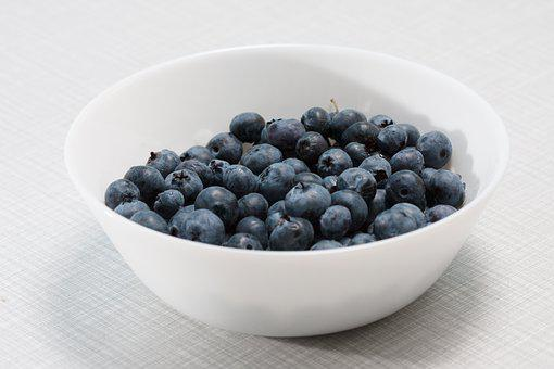 Blueberries In A Bowl, Berry, Vegan, Delicious