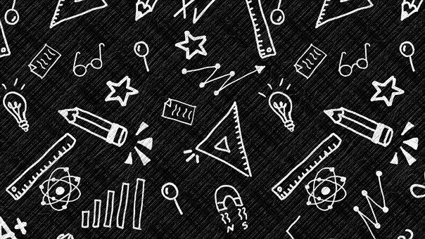 Education, Doodle, Background, Science, Blackboard