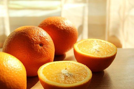 Oranges, Fruit, Food, Citrus, Sliced, Half, Organic