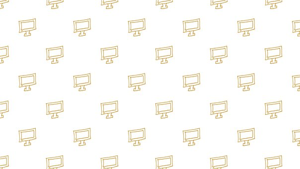Computer, Doodle, Background, Pattern, Seamless