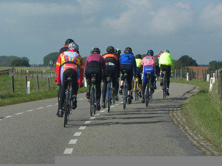 Cyclists, Cycling, Road, Bicycles, Sports