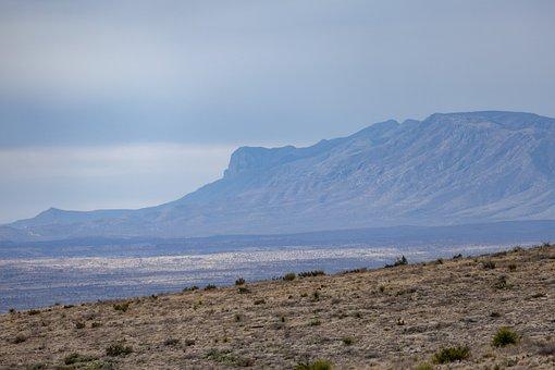 Desert, Land, Clouds, Sky, Mountain, Fog, Dry Land