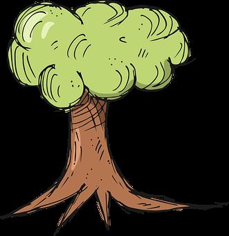 Tree, Cartoon, Icon, Forest, Environment, Foliage, Wood