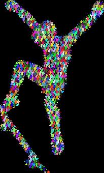 Boy, Skateboard, Colorful, Silhouette, Fractal
