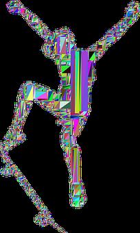 Boy, Skateboard, Low Poly, Abstract, Geometric