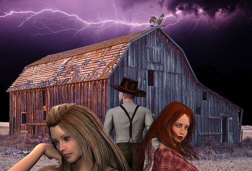 Barn, Storm, Family, Family Conflict, Mother, Daughter
