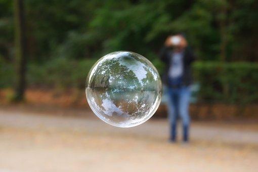 Soap Bubble, Bubble, Reflection, Sphere, Park, Nature