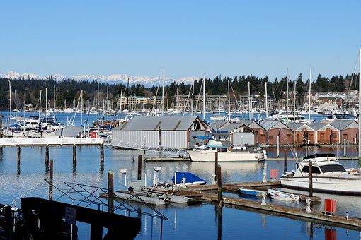 Puget Sound, Western, Washington, Olympic, Mountains