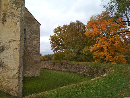Castle, Ruin, Fortress, Medieval, Old, Fort, Autumn