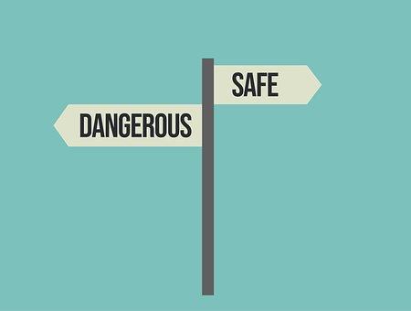 Safe, Dangerous, Safe Or Dangerous, Signpost, Danger