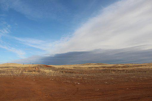 Sky, Landscape, Desert, Nature, Blue, Sand, Mountain