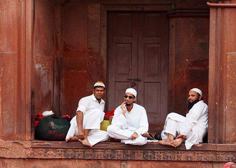 Mosque, Muslims, Men, Rest, People, Group, Sitting