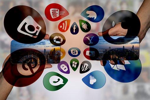 Social Media, Smartphone, Icons, Media, Internet
