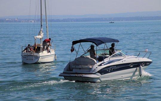 Boats, Sailing, Lake, Water, Sailboat, Motorboat