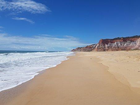 Beach, Cliff, Coast, Sand, Sea Foam, Beach Foam