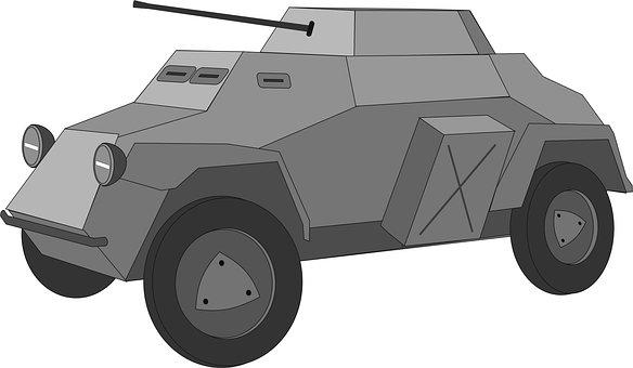 Armored Car, Military Car, Panzerwagen, Sdkfz 222