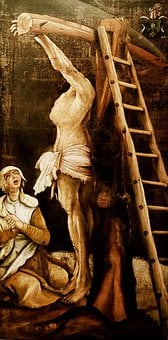 Jesus, Cross, Painting, Crucifixion, Gothic