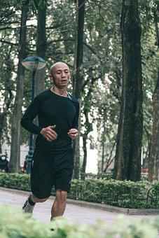Man, Run, Park, Sport, Running, Wellness, Fitness