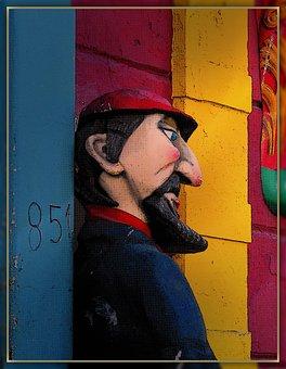 Sculpture, Man, Beard, Statue, Art, Figure, Profile