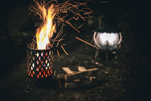 Bonfire, Fire, Flames, Camping, Stove, Sparks, 캠핑, 불멍