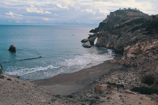 Gerontas, Milos, Island, Greece, Beach, Blue, Cyclades