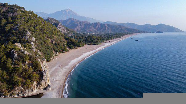 Turkey, Drone, Cirali, Lycia, Sea, Landscape, Travel