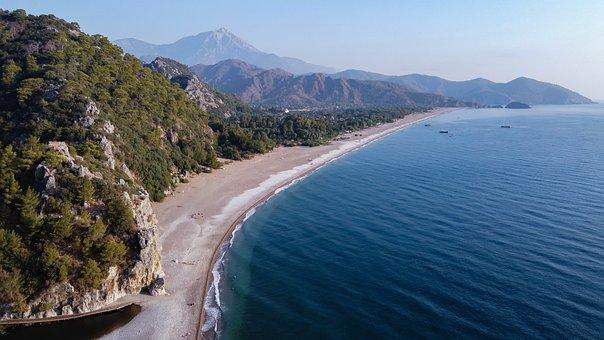 Turkey, Drone, Cirali, Lycia, Sea, Landscape, Travel