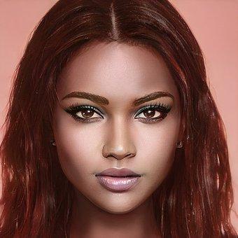 Beauty, Woman, Portrait, Face, Makeup, Girl, Female