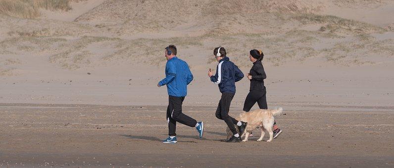 Jogging, Fitness, Beach, Beach Run, Running, Run