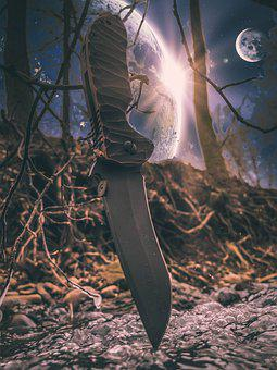 Knife, Weapon, Forest, Spartan Knife, Folding Knife