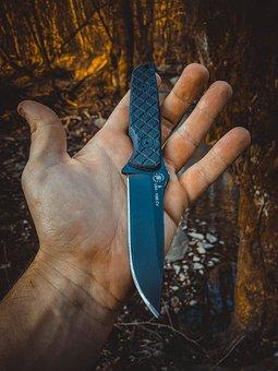 Knife, Weapon, Hand, Spartan Knife, Folding Knife